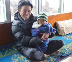 Father and son in Mong La