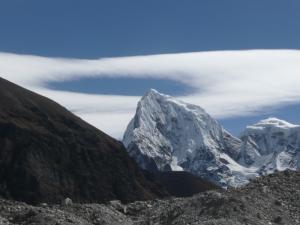 Cholatse Peak encircled by a halo