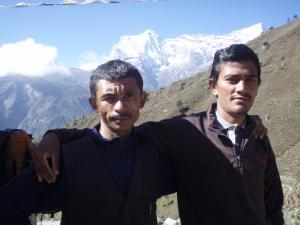 Vishnu & Shiva, porters from the Chettri caste . . . they walk to Lukla from their village lower down, to work as mountain porters, supplementing their income as farmers