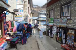 The main drag in Namche Bazaar