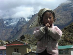 A young girl in Khumjung in 2002 . . . Jerry met her again in Khumjung in 2014