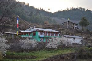 A colorful lodge near the village of Goljung