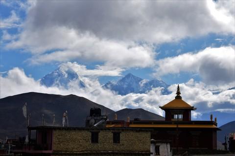 Dhaulagiri looms high above Muktinath