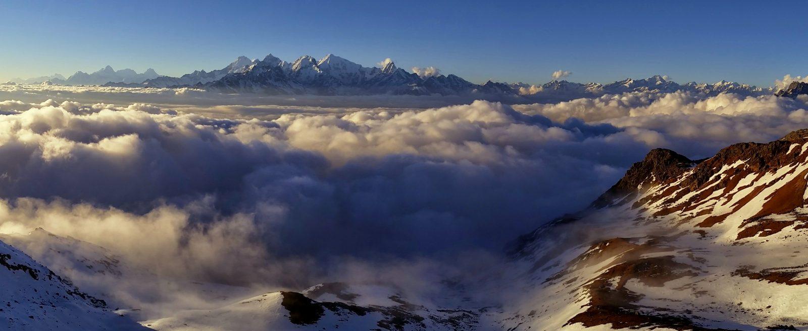 Himalaya Ranges , from left: Annapurna; Manaslu; Ganesh Himal; Tibet; Langtang