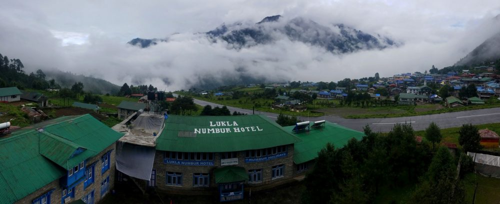 The Himalayan airport town of Lukla, known as the Gateway to Everest