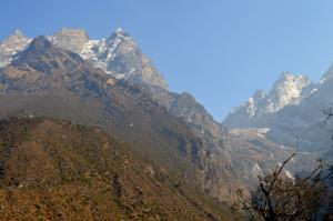 The view up towards Lawudo Gompa, sister monastery of Kopan in the Kathmandu Valley