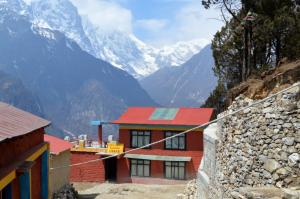 The library of Lawudo Gompa with a grand view!