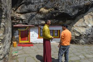 Entrance to Lawudo Gompa's meditation cave