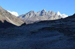 Walking up the Thame Valley towards the high trading route with Tibet, the Nangpa La Pass