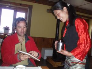 Dawa Sherpa, an old family friend working in the high luxury lodge at Mende . . . Jerry's wife, Mary Ellen, first met Dawa's family in 1992