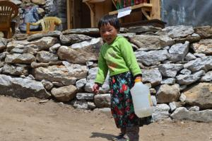 Carrying water is a fulltime job for the littlest ones of the Khumbu