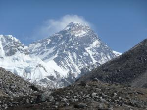 """Everest from the """"easy"""" Fifth Lake hike . . . this is called Scoundrel's View because the hike is relatively easy in comparison to other Everest viewpoints"""