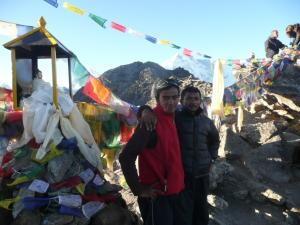 Shiva & Vishnu on Gokyo Ri . . . prayer flags are hung at high points so that the wind can easily blow the prayers around the world