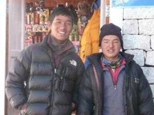 The proprietors of Namaste Lodge in Gokyo