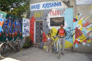 The Hare Krishna Bike Clinic is one of a number of newer shops that cater to mountain bikers