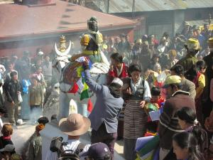 Losar celebrations at the Boudha Stupa