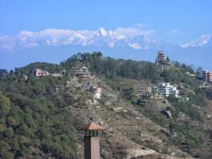 Nagarkot is a hill town on the rim of the Kathmandu Valley with a view of 150 miles of the Himalayan chain . . . from the Annapurna range in the west, to the Everest area in the east