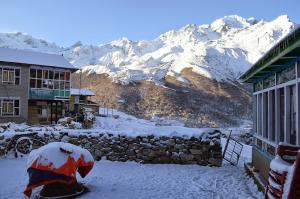 Kyanjin Gompa morning, after fresh snow