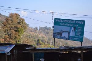 A sighting of the Ganesh Himal from the rim of the Kathmandu Valley at Kakhani