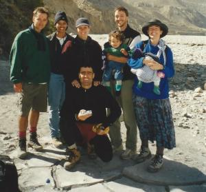 Yes, babies do enjoy trekking as long as you don't make them walk ~ Mary Ellen & Jerry, along w/ the Bonetti and Gibson clans