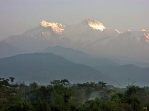 Sun glimmering on the Annapurna iceblocks ~ no trek in the region is complete without a post-trek layover in the resort town of Pokhara